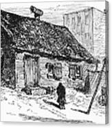 New York: Shanty, 1875 Canvas Print