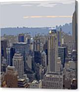 New York Skyline From The Rockefelller Canvas Print