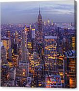 New York Skyline Panorama Canvas Print
