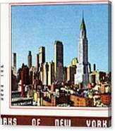 New York: Skyscrapers Canvas Print