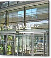 New York Times Reflection Canvas Print