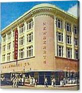 Newberry's Department Store In El Paso Tx In The 1950's Canvas Print
