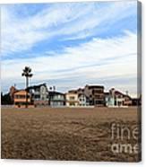 Newport Beach Oceanfront Houses Canvas Print