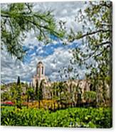 Newport Beach Temple Pine Canvas Print
