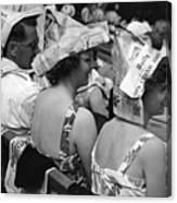 Newspaper Hats Canvas Print