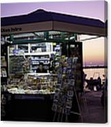 Newsstand In Croatia Canvas Print