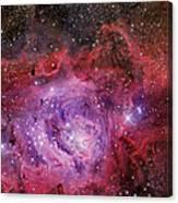 Ngc 6523, The Lagoon Nebula Canvas Print