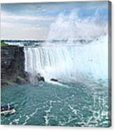 Niagara Falls And The Bubbles Canvas Print