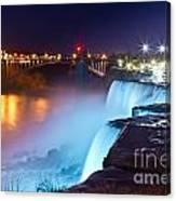 Niagara Falls At Night 2 Canvas Print