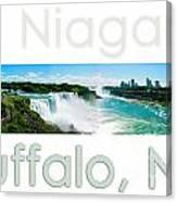 Niagara Falls Day Panorama Canvas Print