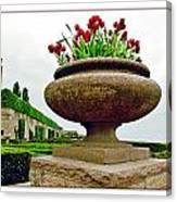 Niagara Falls Floral Urn Canvas Print