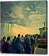 Niagara Falls From The Deck Maid Of The Mist Canvas Print