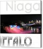 Niagara Falls Postcard Canvas Print