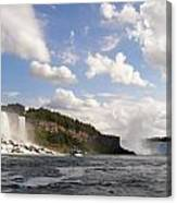 Niagara Falls View From The Maid Of The Mist Canvas Print