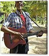 Nicaraguan Musician Big Corn Island Nicaragua Canvas Print