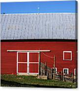 Nice Red Barn Canvas Print
