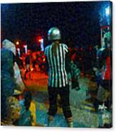 Night At The Roller Derby Canvas Print