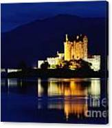 Night Falls On Eilean Donan Castle - D002114 Canvas Print