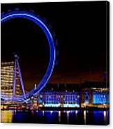 Night Image Of The London Eye And River Thames Canvas Print