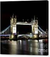Night Image Of The River Thames And Tower Bridge Canvas Print
