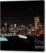 Night Lights Of Atlanta Canvas Print