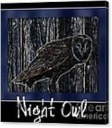 Night Owl Poster - Digital Art Canvas Print