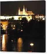 Night Time In Prague Canvas Print