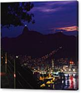 Night View Of Rio De Janeiro From An Canvas Print