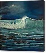 Night Wave Canvas Print