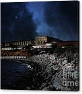 Nightfall Over Hard Time - San Quentin California State Prison - 5d18454 Canvas Print