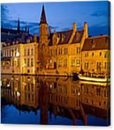 Nighttime Brugge Canvas Print