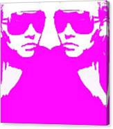 Niki Mirror Pink Canvas Print