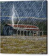 No Matter The Weather-work Goes On Canvas Print