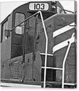 Noir Et Blanc Engine 103 Canvas Print