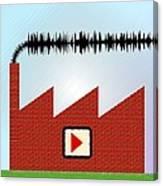 Noise Pollution, Conceptual Image Canvas Print