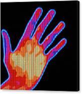 Non-smoker Hand Thermogram Canvas Print