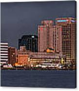 Norfolk Waterfront Color Canvas Print