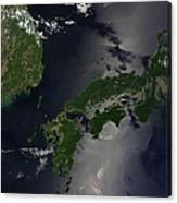 North And South Korea, And The Japanese Canvas Print