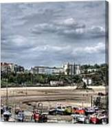 North Beach From Tenby Harbour Canvas Print