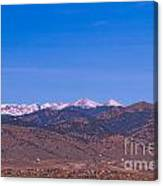 North Boulder County Colorado Full Moon View Canvas Print