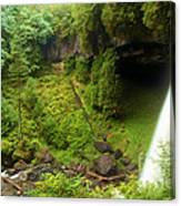 North Falls Waterfall Canvas Print