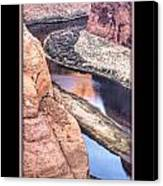 North Side Of Horseshoe Bend Canvas Print