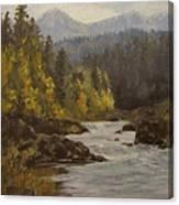 North Umpqua Autumn Canvas Print