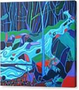 North Woods River 2 Canvas Print