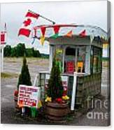 North York Drive-in Box Office Canvas Print