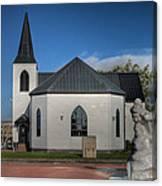 Norwegian Church Cardiff Bay 2 Canvas Print