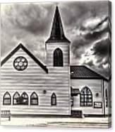 Norwegian Church Cardiff Bay Cream Canvas Print