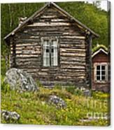 Norwegian Timber House Canvas Print