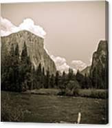Nostalgic Yosemite Valley Canvas Print