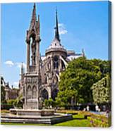Notre Dame Cathedral Backside Canvas Print